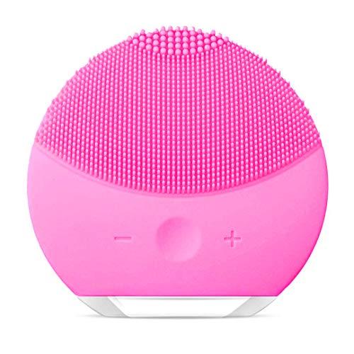 Cepillo de Limpieza Facial, Masajeador Facial y Dispositivo de Cuidado de la piel Antienvejecimiento Para Todos los Tipos de piel (Rojo)
