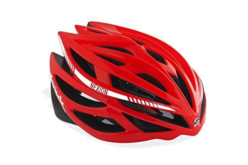 Spiuk Nexion Fahrradhelm, unisex 53-61 Rot/Schwarz