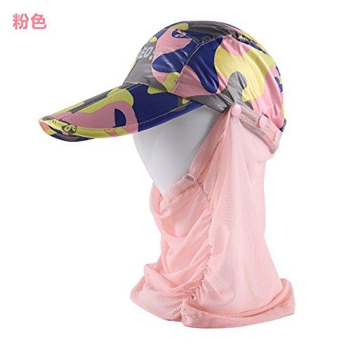 GAOQIANGFENG Das hat Frau Sommer reiten Elektroauto Schirm Kappe kann Falten Sonnencreme outdoor Lady reisen die Sonne hat zu reisen, verstellbar, Rosa