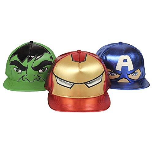 avengers-cappello-berretto-premium-con-visiera-in-simil-pelle-finitura-metalizzata-capitan-america-i