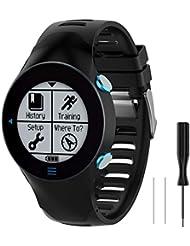 WEINISITE Strap for Garmin Forerunner 610,Soft Silicone Replacement Band for Garmin Forerunner 610 Smart Watch