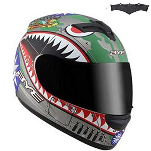 Qianliuk Schwarzer Glanz Motocross Downhill Helm Full Face Motobiker Helm Classic Fahrrad-Rennhelm