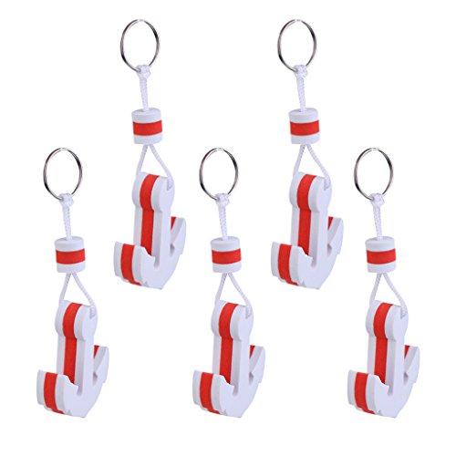 Sharplace (5 Stück Packung) Bootsport Begeisterte lieblings- Geschenke Schlüsselanhänger Schlüsselbund (Anker Form)
