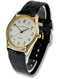 Philip Mercier SML06/A - Reloj de caballero de cuarzo color negro