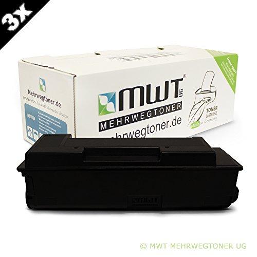 Preisvergleich Produktbild 3x MWT Toner für Kyocera Ecosys M 2035 2535 dn ersetzt 1T02ML0NL0 Schwarz Black TK-1140
