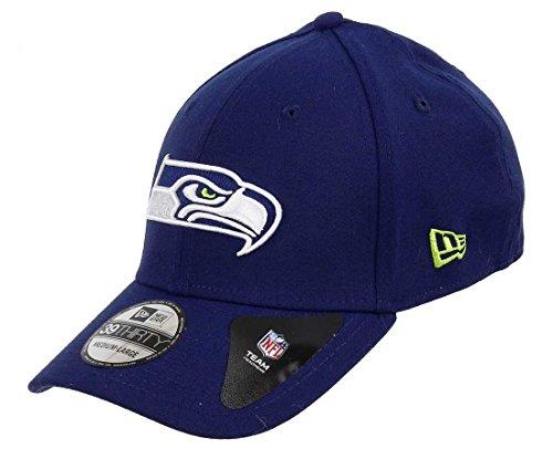 New Era Oceanside 39Thirty Cap Seattle Seahawks Blau, Size:S/M (Kleines Logo Fitted Hat)