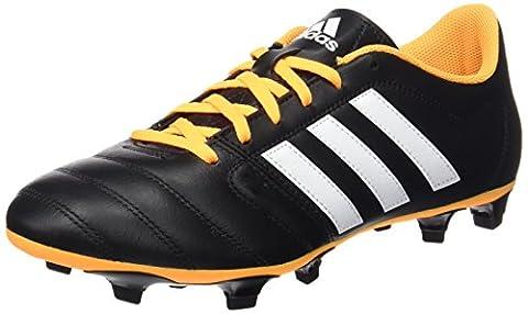 adidas Gloro 16.2 FG, Chaussures de Foot Homme, Noir / Blanc / Jaune (Noir Essentiel / Blanc Footwear / Doré Solaire), 44 EU