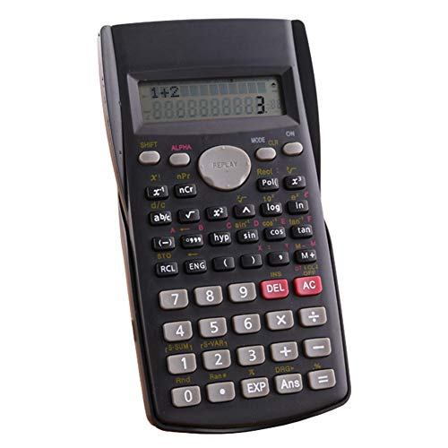 Wissenschaftlicher Taschenrechner, batteriebetriebener Zähler, 2-zeiliges LCD-Display, Business-Büro, Mittelhochschule, Studenten, SAT/AP-Test, Taschenrechner