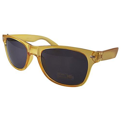 Ciffre Sonnenbrille Nerdbrille Nerd Brille Pilotenbrille Look Gelb Dunkle Glässer