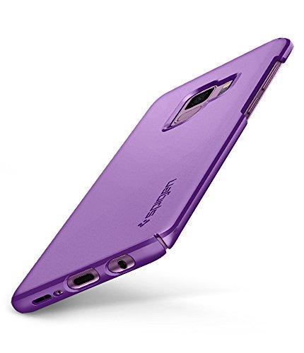 Spigen 592CS22824 Thin Fit Kompatibel mit Samsung Galaxy S9 Hülle, Slim PC Schale Hardcase Leicht Dünn Schutzhülle Handyhülle Case Lilac Purple