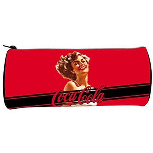 Trousse ronde vinyle Coca-Cola