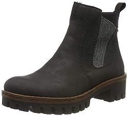 Rieker Damen 75754 Chelsea Boots, Schwarz (schwarz/anthrazit 01), 42 EU