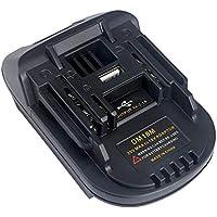 Sue Supply - Adaptador de batería DM18M con puerto de carga USB para MAKITA 18 V de litio inalámbrico herramienta de alimentación para MAKITA baterías USB Uso para Máquinas de herramientas eléctricas MAKITA con batería deslizante