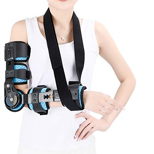 Candyana Einstellbare Ellenbogengelenk-Fixierungshalterung Orthese Aktivitätsgrenze Arm Frakturschutz Freie Größe,Black,lightarm - Black Arm-schlinge