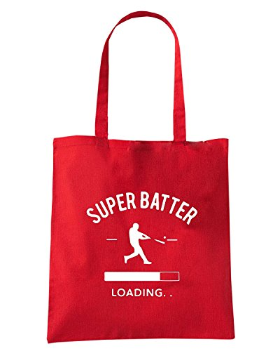 T-Shirtshock - Borsa Shopping WC1246 Super Batter Maglietta Rosso