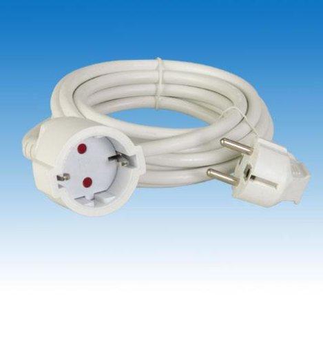 Verlängerungsleitung 3m weiß (Schuko) H05VV-F 3G1.5mm²