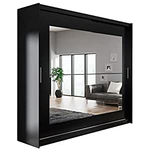 Neuf Moderne Chambre à Coucher Miroir De Garde Robe Armoire à Portes