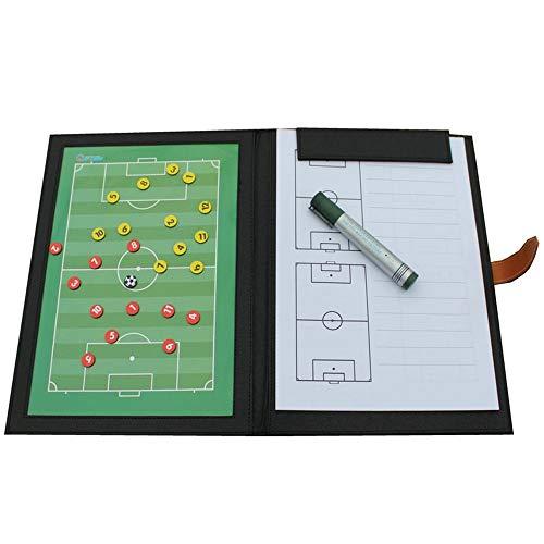 Taktisches Board für Fußballspiel, Coach Marker, Standard-Fußball, faltbar, langlebiges und zuverlässiges Klemmbrett, Fußballzubehör, Training, Anleitung für Fußballhockey, etc., einfarbig, 48*32cm