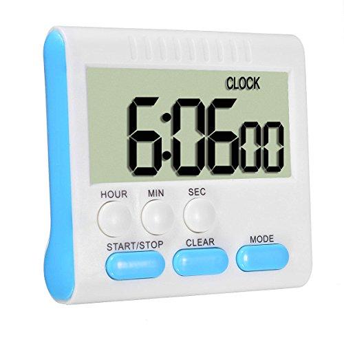 ELEGIANT Küche Timer Alarm magnetisch Large LCD Digital Count Up Down Ei Uhr 24 Stunden für Home House Kochen Abendessen Lunch Frühstück (Ei-timer Digital)