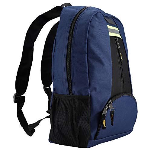 Fishlor Multifunktionsrucksack, Elektriker-Werkzeugtasche Oxford-Stoff-Stoff-Werkzeug-Rucksack Strapazierfähige, verschleißfeste Tasche für den Installateur(Blau) -
