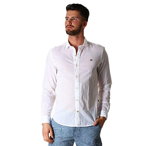 napapijri-gome-shirts-homme-white-blanc-blanc-xxxl