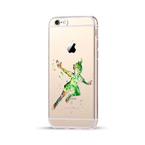 Disney Peter Pan Schutzhülle Appel Iphone Serie TPU transparent Silikon Case Appel Iphone Cartoon Hülle -AcAccessoires (Iphone 6/6S, #0082) #0083