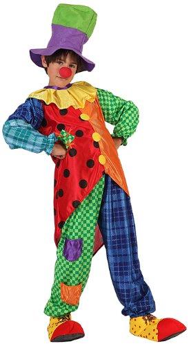 Atosa 6726 - costume da clown bambino, 128 cm