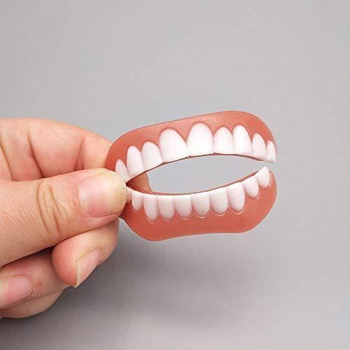 Obere und untere Prothesenzähne - hoch + gefälschte Zähne Kosmetik tragen komfortable Zähne künstliche Zähne Aufkleber vorübergehende Lächeln hochwertige Gesundheit