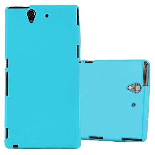 Preisvergleich Produktbild Cadorabo Hülle für Sony Xperia Z - Hülle in Jelly HELL BLAU – Handyhülle aus TPU Silikon im Jelly Design - Silikonhülle Schutzhülle Ultra Slim Soft Back Cover Case Bumper