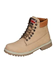 Eego Italy Beige Synthetic Leather Mens Boots