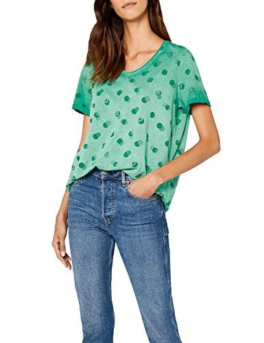 Clover Green T-shirt (Cecil Damen 311936 Jasmina T-Shirt, Grün (Clover Green 31279), Small)