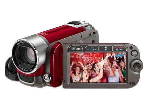 Canon LEGRIA FS200 SD-Camcorder (SDHC/SD/MMC-Card, 37-fach opt. Zoom, 6,9cm (2,7 Zoll) Display) rubinrot - 200 Canon Camcorder