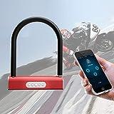 RISHIL WORLD Electric Smart Bike Lock Anti-Theft U-Shaped Password Security Lock