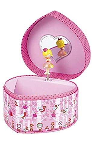 Janod Spielzeug - Spieluhr Schmuckkästchen Prinzessin Minuschka Herz, Mehrfarbig (Kind Aurora Ballerina)