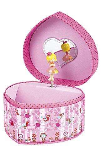 Janod Spielzeug - Spieluhr Schmuckkästchen Prinzessin Minuschka Herz, Mehrfarbig
