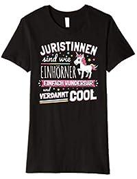 Damen Lustiges Juristin Jura Beruf Einhorn T-Shirt