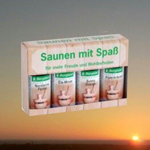 Bergland SAUNEN MIT SPASS Sauna-Aufguss-Set, 4 x 50 ml