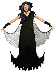 Ciao- Costume Adulto Mortissia TG. M Disfraces, Color negro, 16160