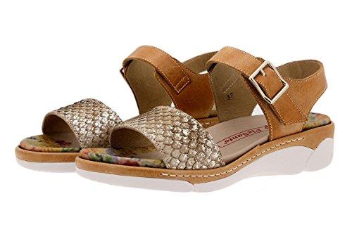 PieSanto Chaussure Femme Confort en Cuir 1501 Sandales à Semelle Amovible Confortables Amples Cuero