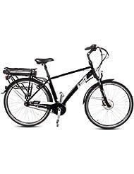 Gregster E-Bike Herren in schwarz | Elektrofahrrad mit 7 Gang Nabelschaltung | 28 Zoll Elektro-Fahrrad mit Mittelmotor