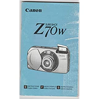 Canon SureShot Z 70W (Lens: 28-70) (= Autoboy Luna) - original instruction manua