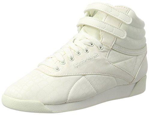 Reebok Damen Freestyle Hi Lux TXT Hohe Sneaker, Weiß (Chalk/Chalk), 40.5 EU (Freestyle Hi-sneaker)