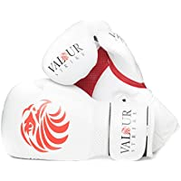 Valour Strike White Paw Boxing Gloves ★ 4oz - 16oz Punch Bag Sparring Fight MMA Muay Thai Grappling Fight Mitts Martial Arts Training Kickboxing Punching Glove ★