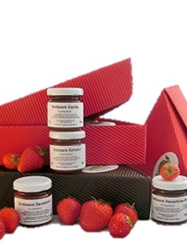 Erdbeer-Marmeladen- 15er Paket - 15x50ml 15 verschiedene Sorten von preisgekrönter Manufaktur | gut als Geschenk Frühstück, zum Brunch, Weihnachtsfrühstück, Silvester Frühstück,Frühstück Marmeladen, Gourmet Marmelade, besondere Marmeladen,
