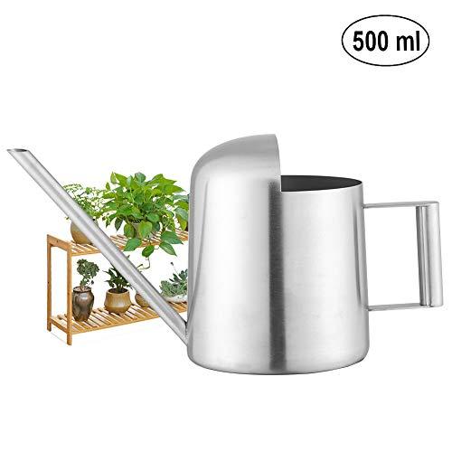 Fdit 500ml Edelstahl Gießkanne Bewässerung Topf für Zimmerpflanzen Blumen Hängepflanzen Blume Balkon Pflanzen Outdoor Garten