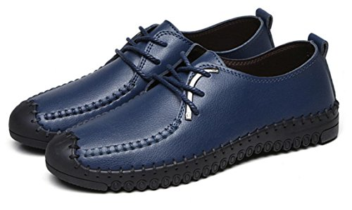 ZCH pattini di cuoio casuali di cuoio degli uomini pattini molli pattini di autunno delle nuove scarpe Oxford degli uomini blue