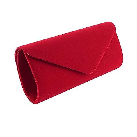 Clorislove Women's Retro Velvet Envelope Evening Clutch Bag Party Prom Handbag (Sera Del Partito Di Borsa)