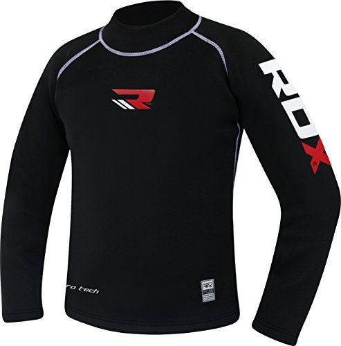 RDX MMA Rashguard Funktionswäsche Sweatshirt Kompressionsshirt Kampfsport UFC Base Layer Langarm