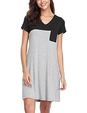 Sponsorizzato haijiate Camicia da Notte Donna Cotone 85e31978f32