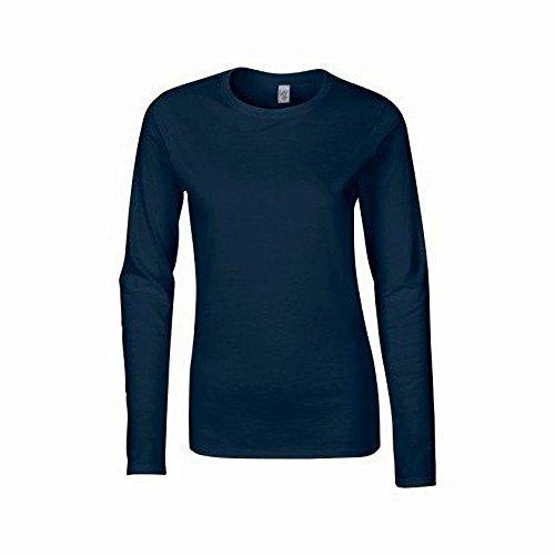 Gildan Damen Langarm T-Shirt / Sweatshirt (L) (Marineblau) L,Marineblau (Baumwoll-t-shirt Jumper)